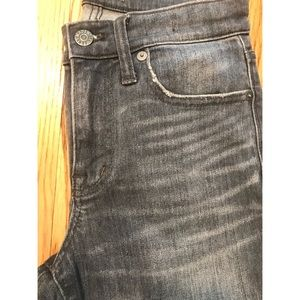 "Madewell 9"" High-Rise Skinny Jean Dusty Wash 25"